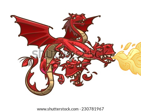 Zmey Gorynych. Dragon from russian fairy tales - stock vector