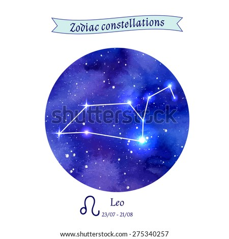 Zodiac constellation. Leo. The Lion. Vector illustration - stock vector