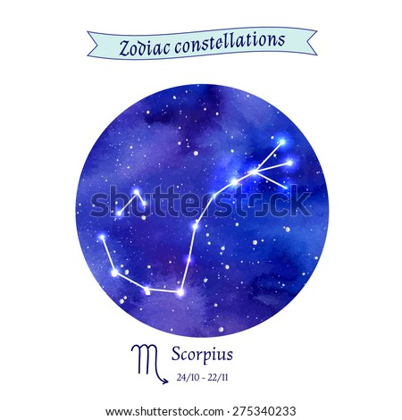 Zodiac constellation. Scorpius. The Scorpion. Vector illustration - stock vector