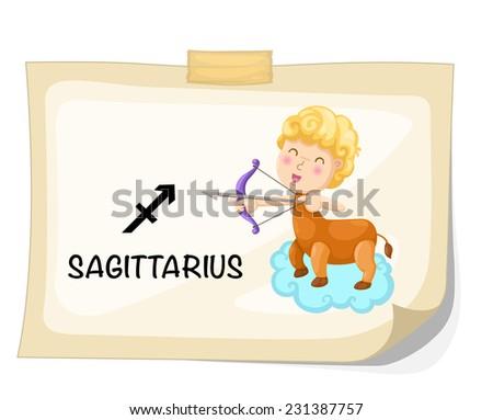 Zodiac signs -Sagittarius vector Illustration - stock vector