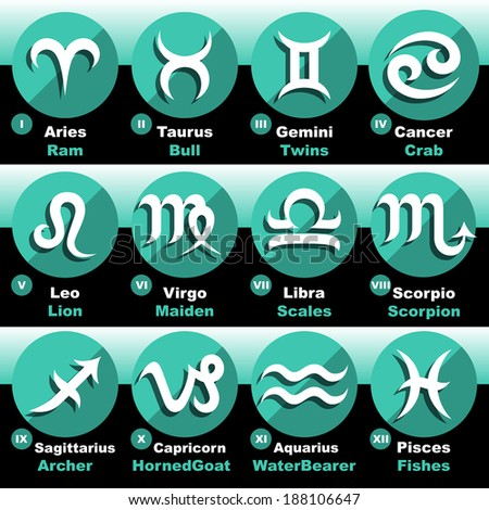 Zodiac Signs Set - stock vector