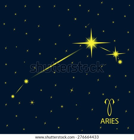 Zodiacal constellations ARIES. Vector. - stock vector