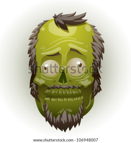 zombie face 01 - stock vector