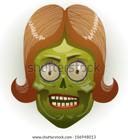 zombie face 05 - stock vector