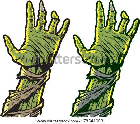 Zombie hands - stock vector