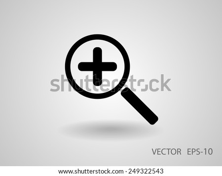 Zoom  icon - stock vector