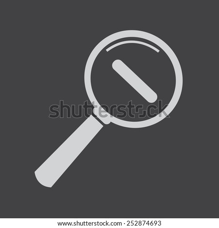 Zoom In and Zoom Out Icon , Magnifying Glass Icon,  magnifying glass,  search icon,  magnifying glass icon vector - stock vector